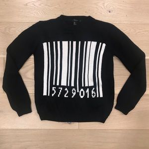 Black Barcode Sweater Forever 21